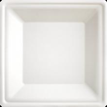 10 eckige Teller aus Zuckerrohr, 26x26 cm, extra stabil