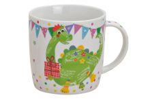 Tasse aus Porzellan mit Dinosaurier Motiv, 300 ml