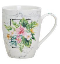 Becher tropischen Blumen Motiv, 345 ml Fassungsvermögen