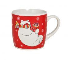 Tasse Weihnachten mit Eisbär Motiv im Comic-Stil, 200 ml Fassungsvermögen