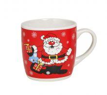 Tasse Weihnachten mit Weihnachtsmann Motiv im Comic-Stil, 200 ml Fassungsvermögen