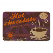 Frühstücksbrettchen aus Melamim Hot Chocolate Motiv 230x145mm
