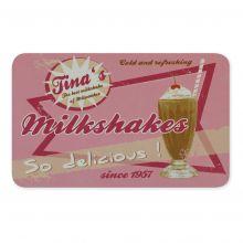 Frühstücksbrettchen aus Melamim Milkshakes Motiv 230x145mm
