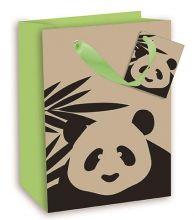 Geschenktasche Groß mit Panda Motiv, 26,3*32,3*13,6 cm