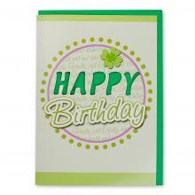 Grußkarte mit Sound und Licht Happy Birthday 158x222mm geschlossen