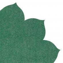 Japanserviette Blumen uni dunkelgrün 35x35cm