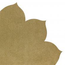 Japanserviette Blumen uni gold 35x35cm