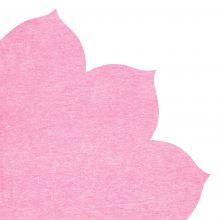 Japanserviette Blumen uni pink 35x35cm
