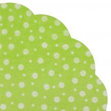 Japanserviette Blumen grün 35x35cm
