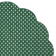 Japanserviette Punkte dunkelgrün 35x35cm