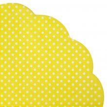 Japanserviette Punkte gelb 35x35cm