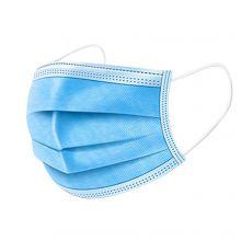 Mund- und Nasenschutzmaske mit Ohrenschlaufen in der Farbe Blau, 50 Stück