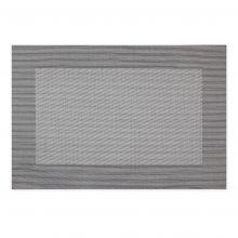 Platzset aus Kunststoff Silber Schwarz 445x300mm
