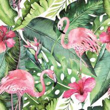 Serviette mit Flamingos und Hibiskusblüten, 20 Stück, 33*33 cm