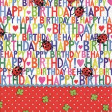 Serviette Happy Birthday 20 Stück, 33*33 cm