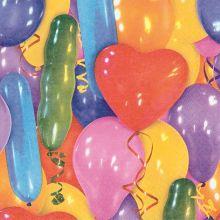 Serviette mit bunten Luftballons Motiv 20 Stück, 33*33 cm