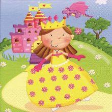 """Serviette """"Prinzessin"""" 20 Stück, 33x33 cm"""