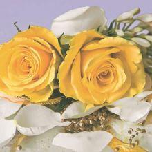 Serviette Rosenbouquet gelb 20 Stück, 33*33 cm