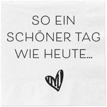 Serviette Spruch Schön, dass ihr alle da seid!, 20 Stück, 33*33 cm