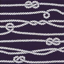 Serviette mit Seemannsknoten Motiv 20 Stück 33*33 cm
