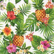 """Serviette """"Tropische Ananas weiß"""" 20 Stück, 33x33 cm"""
