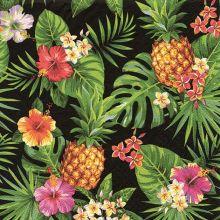 """Serviette """"Tropische Ananas schwarz"""" 20 Stück, 33x33 cm"""