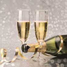 Serviette Weihnachten Champagnergläser 20 Stück, 33*33cm