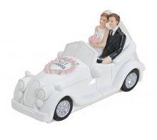 Spardose Brautpaar im Hochzeitsauto, 16*7*9 cm
