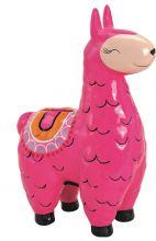 Spardose Lama Pink, 14x21x7 cm