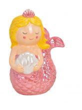 Spardose Meerjungfrau Pink, 12x17x8 cm