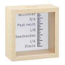 """Spardose Bilderrahmen """"Baby Mädchen"""" 15*15*5cm"""