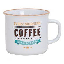 """Tasse mit Schriftzug """"every morning coffee & Cupcakes"""", Fassungsvermögen 295 ml"""