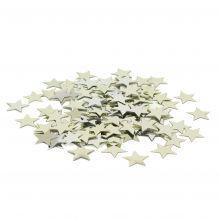 Tischkonfetti Sterne silber gestanzte Metallfolie Beutel 10g
