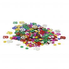 Tischkonfetti Zahlen 50 gestanzte Metallfolie Beutel 10g