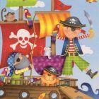 Serviette Kindermotiv Piraten 20 Stück, 33x33 cm